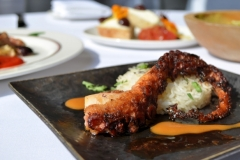 Crispy Portuguese Octopus: Jasmine Rice, Nori, Miso, Teriyaki