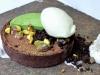 Chocolate Pistachio Tart, Pistachios, Lime, Mint
