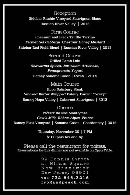 Ramey Wine Cellars Dinner Menu 427x640 NJ Wine Event